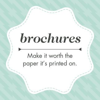 Copywriting for brochures