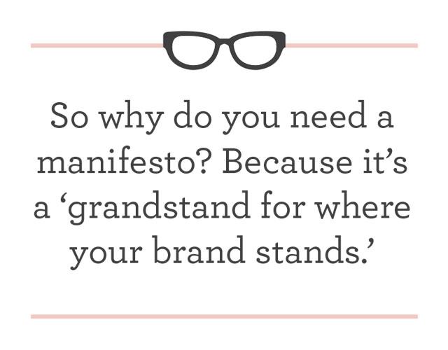 Our Manifesto Mantra.